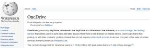 Wikipedia - Onedrive