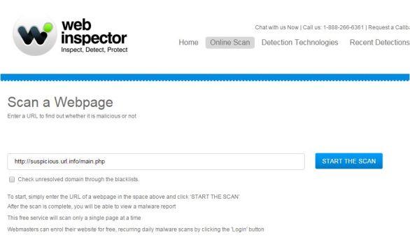 Online Webinspector Site Checker